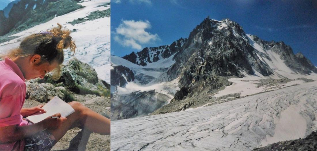 Zwitserland schrijven in de bergen